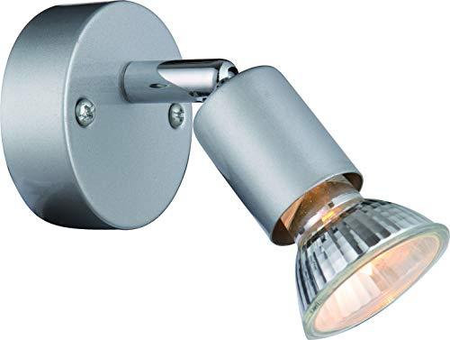 DM Leuchten Wandlampe Deckenlampe LED Lampe schwenkbar 1 flammig inkl. Leuchtmittel 1x 3 Watt, warmweiß, LED Wandleuchte Deckenleuchte LED Strahler LED Spot, Matt-Nickel