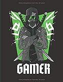 GAMER: Diario y cuaderno, perfecto para los fanáticos de los videojuegos - Tamaño (8.5 x 11...