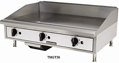 """Toastmaster TMGM48 48"""" Stainless Steel Griddle, Gas, Countertop, Natural Gas"""