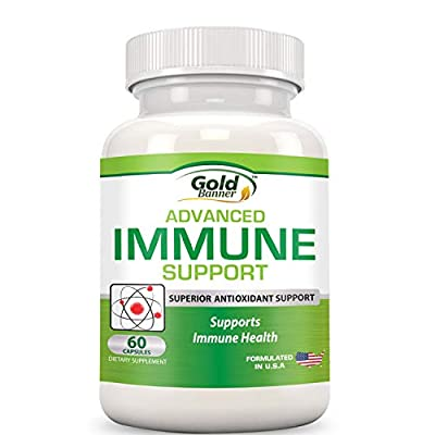 Advanced Immune Support Supplement by Gold Banner - Superior Anti-Oxidant - Boosts Immune System with Red Raspberry, Pomegranate, Pine Bark, Grape Seed, Green Extracts- Polyphenols, Lycopene