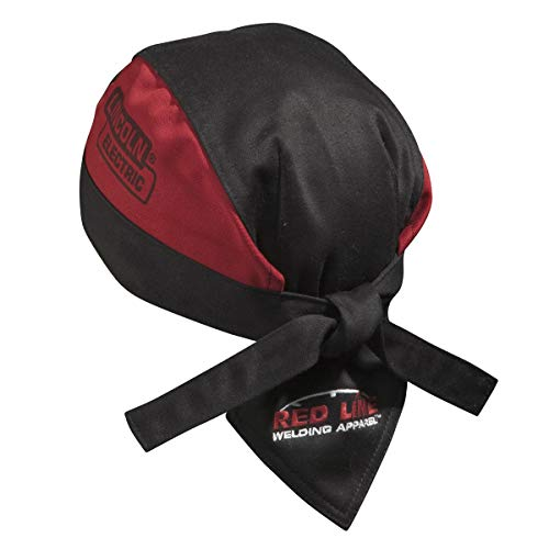 Lincoln Electric Welding Doo Rag - Flame Resistant (FR) - Mesh Inside Liner - Black & Red - K2993-ALL