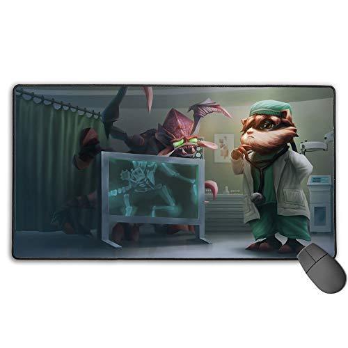 Alfombrilla de ratón impermeable para League Legends Kennen Md, tamaño extendido profesional, borde cosido, diseño personalizado de 40 cm x 90 cm