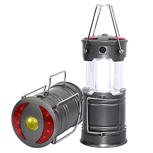Luz LED de camping recargable para exterior, con linterna, base magnética para camping, huracán, senderismo, interrupción de corriente, emergencia