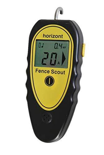 horizont Weidezaun Prüfgerät, 3 in 1 Messgerät für Zaunspannung, Stromstärke, Fehlerfinder, idealer Stromprüfer für Weidezaun, Spannungsprüfer Messbereich bis 10.000 V