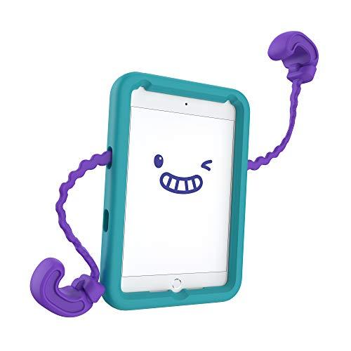 Speck Products Case-E, Fits iPad Mini 4 Case (2019), Case for Kids, Aquamarine Teal/Berrybold Purple