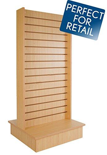 Econoco Maple Merchandiser for Shelves and Baskets – 2-Way Slatwall Merchandiser, For Heavy Duty Shelves, 25.5' x 24' x 54', Slatwall Panel, Clothing Slatwall, Maple