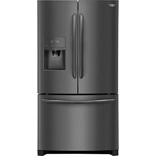 Frigidaire FGHB2868T Gallery Series 36 Inch Freestanding French Door Refrigerator with 27.2 cu ft. Total Capacity, 3 Glass Shelves, 8.7 cu. ft. Freezer Capacity (Black Stainless Steel)