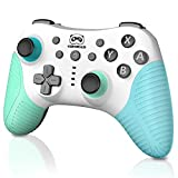 Wireless Pro Controller for Switch/Switch Lite, Switch Remote Gamepad with Wake-up, 3-Level Vibration, Turbo, Motion Control Function, 600mAh Battery Wireless Switch Controller, Animal Crossing Theme