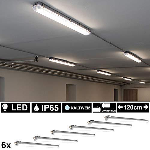 6er Set 36 Watt SMD LED Wannen Röhren Leuchte Werkstatt Tageslicht Strahler Decken Lampe