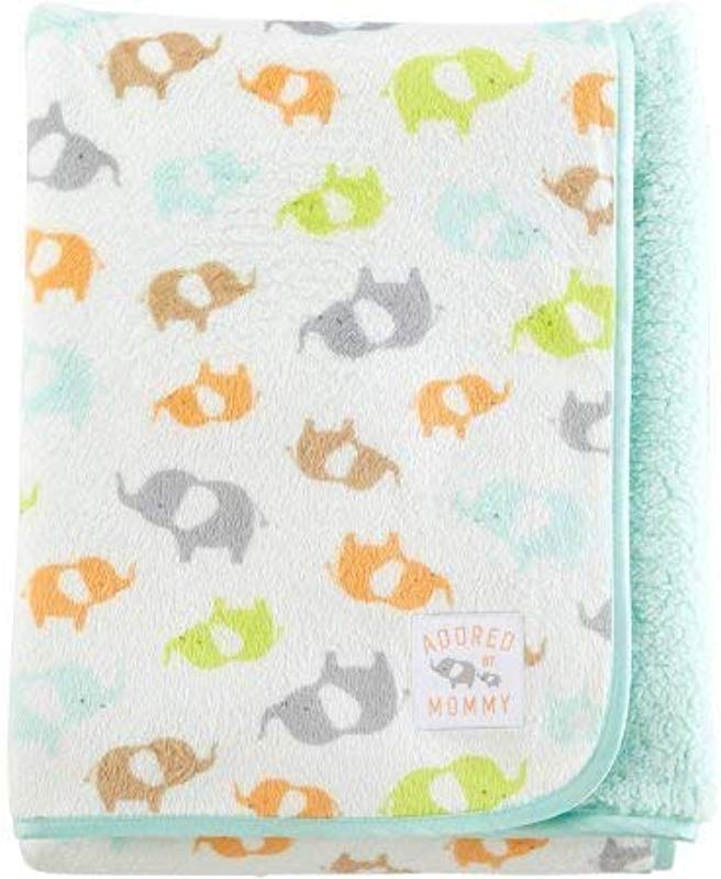 Carter S Child Of Mine Adored By Mommy Fleece Baby Blanket Elephants