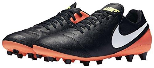 Nike Herren Tiempo Genio II Leather Ag-Pro Fußballschuhe, Mehrfarbig (Black/white-hyper Orange-volt), 40 EU