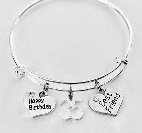 Silver plated expandable charm braceletbangle
