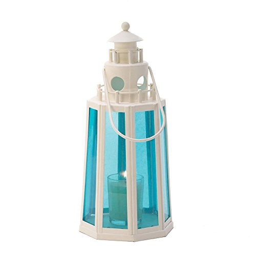 Ocean Blue Lighthouse Lamp Candle Wedding Centerpieces