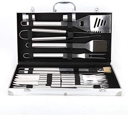 413DR975mYL - Knoijijuo Werkzeugablage 24Pc Grill, Grillzubehör Edelstahl Aluminium Verpackt, Vollständigen Satz Von Utensilien Für Den Grill