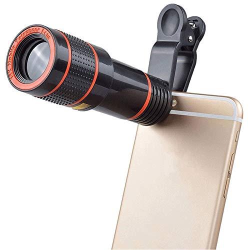 Teléfono Móvil Smartphone Telescopio Lente De Teléfono 12X Zoom Óptico Cámara De Telefoto HD Kit De Lentes Macro para Enfoque Universal len