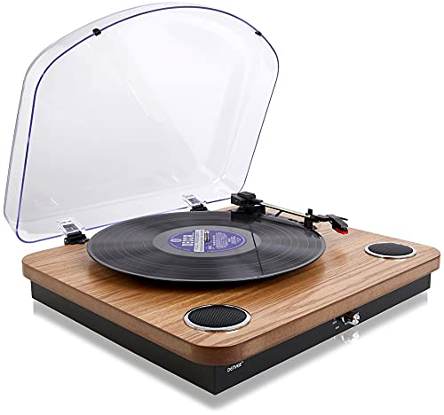 Denver Vinyl Record Player Turntable - Bluetooth, Record to MP3 (No PC...