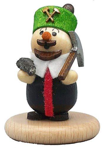 Rudolphs Schatzkiste Miniatur Bergmann mit Hund Höhe 5cm NEU Miniaturfigur Holzfigur Weihnachtsfigur