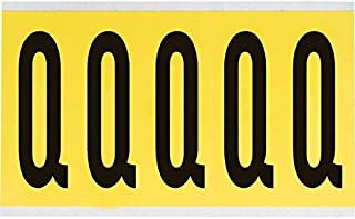 """Brady 3460-Q, 34627 5"""" x 1-3/4"""" 3460 Series Repositionable Letter Label w/Legend: Q, 25 Cards"""