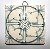 Geometrische Fliese - Handgemachte Keramikfliesen, Abmessungen cm 10x10x0,8 cm, bereit, an der Wand...