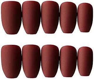 Best burgundy matte coffin nails Reviews
