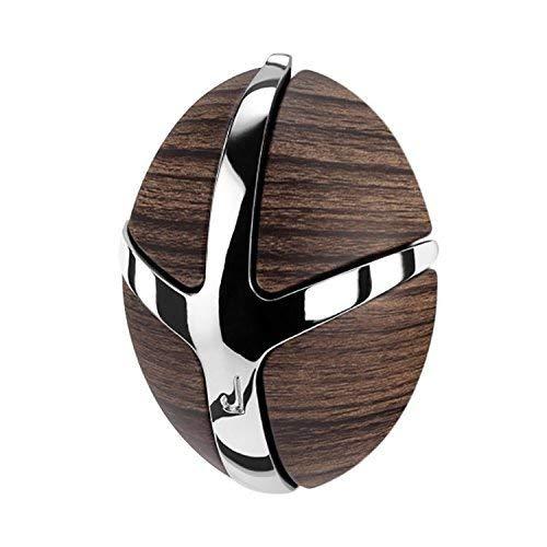 Spinder Design Tick Wandgarderobe / Garderobe mit Metallhaken - 9.5x7x3.5 cm - 3 Haken - Dunkelbraun