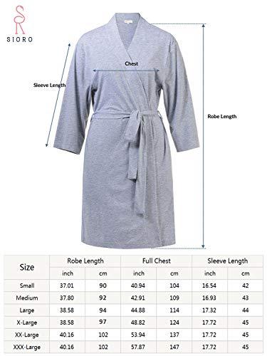 SIORO Lightweight Cotton BathRobe for Ladies