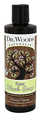 Dr. Woods Raw Moisturizing Black Coconut Papaya Soap with Organic Shea Butter