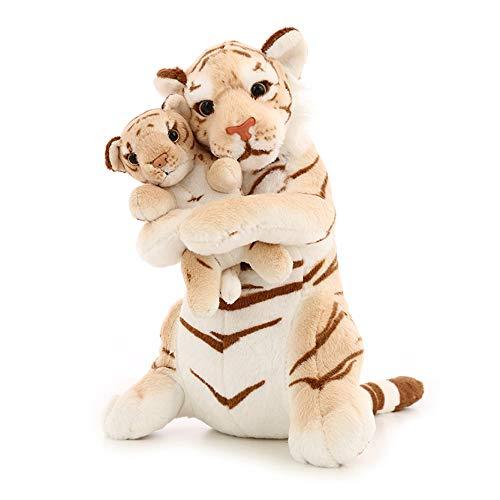 Toy Mère et Enfant poupée Tigre, Cadeau d'anniversaire de 48cm poupée Tigre Mignon, Cadeau de Vacances, Jouet de la Saint-Valentin, Voiture décoration de la Maison ZDDAB