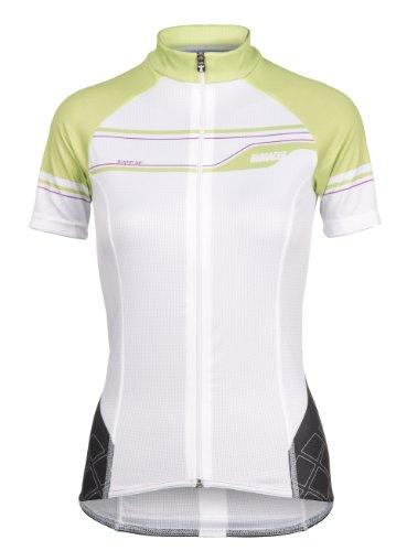 Bioracer Damen Trikot Curl Short Sleeve Jersey, Weiβ/Grün, XS