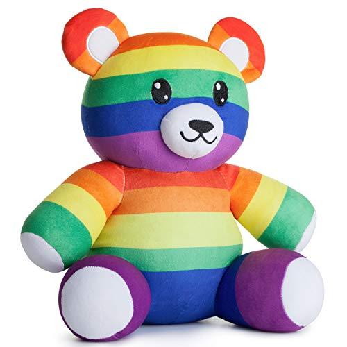 corimori Plüschtier, Quinn der LGBTQ Teddy, Regenbogen-Bär, 28cm, bunt