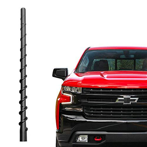 Car Wash Proof Antenna for Chevy Silverado and GMC Sierra (2009-2019)|9 inch Spiral Direct Replacement Antenna Accessories