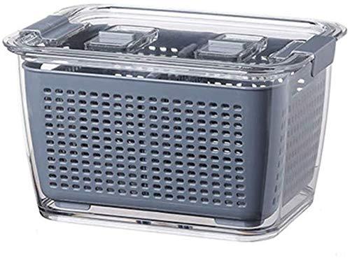 Qutea Frischhaltedosen Kühlschrank spezielle Frischhaltebox Lebensmittel Gemüse Obst Aufbewahrungsbox ((Braun) L)