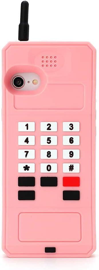 Retro Phone Case for iPhone 7Plus 8Plus,Awin 3D Cute Cartoon Big Retro Telephone Soft Rubber Silicone Phone Case for iPhone 6Plus 6s Plus 7Plus 8Plus 5.5inch (Big Telephone)