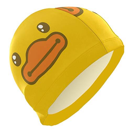 ALINLO Badekappen, lustige Cartoon-Ente, Badekappe für Erwachsene, Männer, Frauen, Jugendliche, Mädchen, Jungen