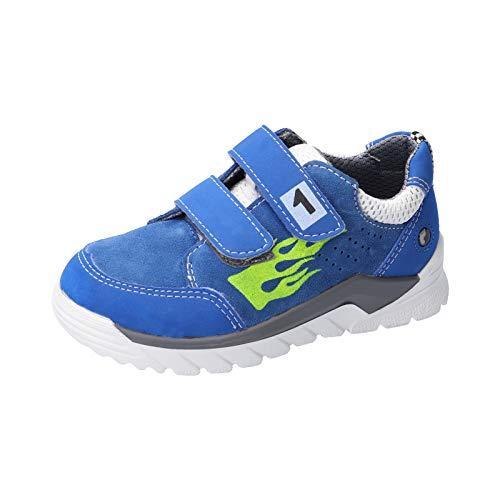RICOSTA Jungen Kletthalbschuhe Racer, Weite: Mittel (WMS),Soundeffekt, Sneaker freizeitschuh Kinder Kids Jungen Kinderschuhe,Azur,33 EU / 1 UK