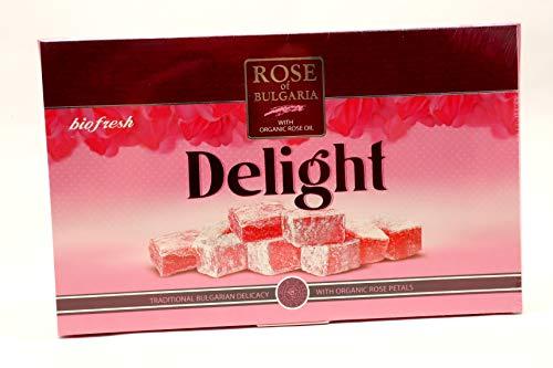 Delicia turca delicada y sutil con aceite de rosa orgánico, pétalos de rosa y agua de rosa natural.
