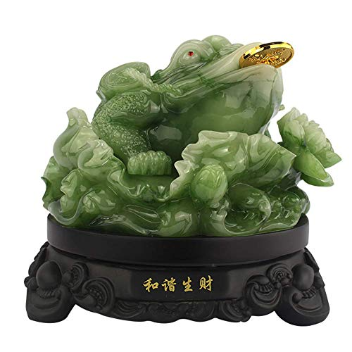 LXDDP Money Frog Statue Ornament (Wealth Frog Or Money Toad) Figurines, Feng Shui Decor Attract Wealth And Good Luck for Family Office Gift