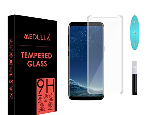 Medulla UV Tempered Glass Screen Protector for Samsung Galaxy S8/ Samsung S9 Border Less Full Coverage Edge to Edge with Installation Kit