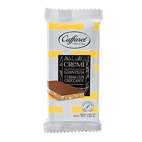 Caffarel Cremì Tavoletta Cioccolato Gianduia Cremino 2 Strati con Croccante, 130g