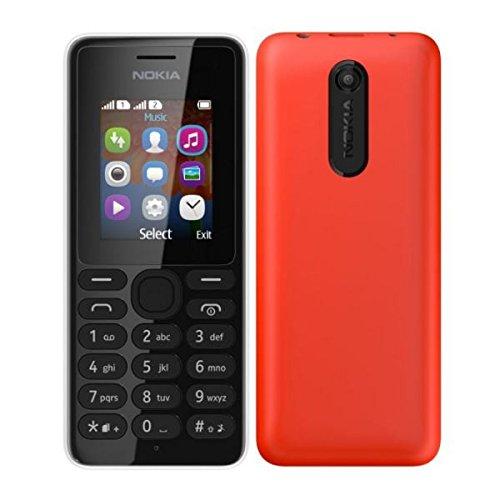 Nokia 108 Red Mobile Phone Dual Sim (Nokia 108 Red Dual Sim)