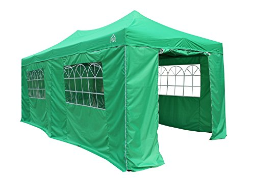 All Seasons Gazebos 3M x 6M Waterproof Gazebo Party Tent with Rustproof Frame and Wheeled Carry Bag (Bright Green)
