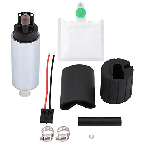 Preisvergleich Produktbild Qiilu Elektrische Kraftstoffpumpe,  255LPH Universal Hochdruck Elektro In Tank Kraftstoffpumpe mit Einbausatz GSS342