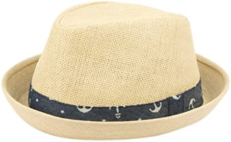 Traditions Hat Co. Fedora Hats for Boys, Girls, Toddlers, Kids, Nautical Theme, One Size w/Adjustable Drawstring