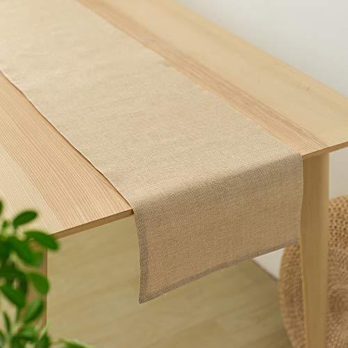 テーブルランナー 食卓飾り 亜麻 布 クロス 無地 おしゃれ テーブル小物 北欧 (31 x 160cm, ベージュ)