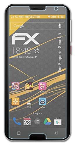 atFolix Panzerfolie kompatibel mit Emporia Smart.5 Schutzfolie, entspiegelnde & stoßdämpfende FX Folie (3X)