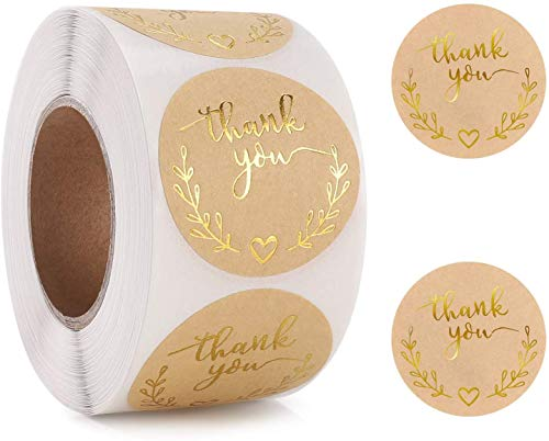 (50% OFF Coupon) Thank you Label 500 Stickers $7.99