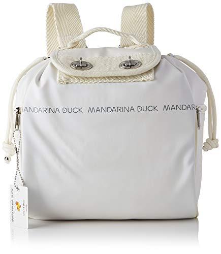 Mandarina Duck Utility, Zainetto Donna, Blanc, Taglia unica