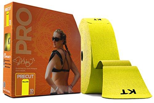 KT Tape Pro Jumbo 150 Strip Bande de kinésiologie synthétique prédécoupée Mixte, Jaune Soleil, Synthetic pre-Cut
