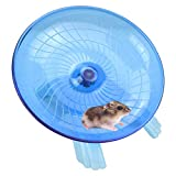 Nanaborn Flying Saucer Hamster Wheel Silent Spinner 7 * 7 * 4.4 inch Quiet Exercise Runner for Cage Dwarf Animal Small Rat (Blue)