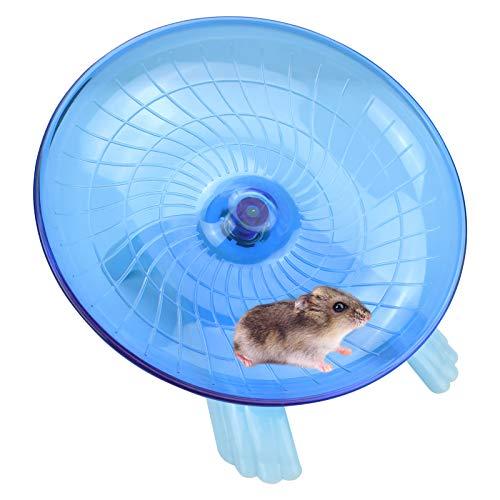 Nanaborn Platillo de rueda de hámster silencioso spinner/silencioso ejercicio vuelo corredor para hámster/rata gerbil enano/jaula pequeña (azul)